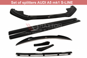 SET OF SPLITTERS AUDI A5 S-LINE