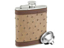 Savoir Flask - Genuine Leather - Brown - 6oz (FGBR6Z)