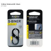 Nite Ize S-Biner SlideLock #2 - Black (LSB2-01-R3)
