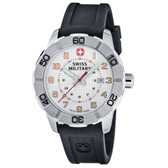 Swiss Military Watch Roadster Blk Silicone Wht Dial (0851.304)