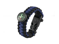 Black Tusk Survival Bracelet Medium - Blue (PARM-BL)