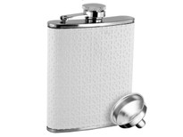 Savoir Flask - White Leather - 6oz (FWHT6Z)