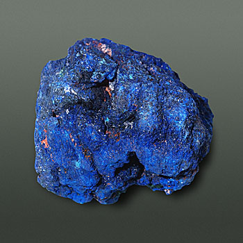 Azurite: The blue gem material, ore of copper, and pigment.