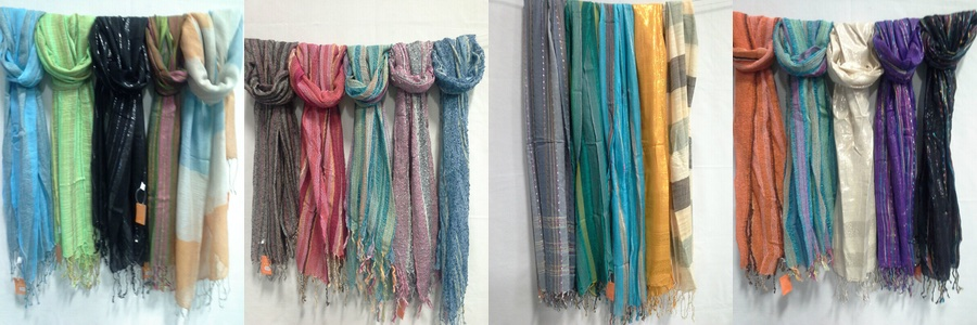 Hemp and Recycled Scarfs