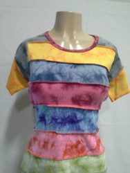Cotton Knitted Half Sleeve tie-Dye T.Shirts 2