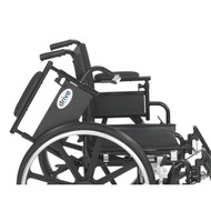 """Viper Plus GT Wheelchair with Flip Back Removable Adjustable Desk Arms, Elevating Leg Rests, 20"""" Seat"""