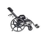 "Viper Plus GT Full Reclining Wheelchair, Detachable Desk Arms, 18"" Seat"