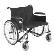 "Sentra EC Heavy Duty Extra Wide Wheelchair, Detachable Full Arms, 30"" Seat"