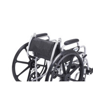 """Poly Fly Light Weight Transport Chair Wheelchair with Swing away Footrests, 18"""" Seat"""