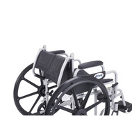 """Poly Fly Light Weight Transport Chair Wheelchair with Swing away Footrests, 20"""" Seat"""