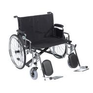 "Sentra EC Heavy Duty Extra Wide Wheelchair, Detachable Desk Arms, Elevating Leg Rests, 28"" Seat"
