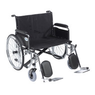"""Sentra EC Heavy Duty Extra Wide Wheelchair, Detachable Full Arms, Elevating Leg Rests, 28"""" Seat"""