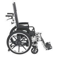 """Viper Plus Light Weight Reclining Wheelchair with Elevating Leg Rests and Flip Back Detachable Arms, 12"""" Seat"""