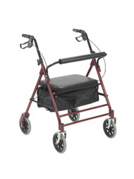 "Bariatric Rollator with 7.5"" Wheels, Red"