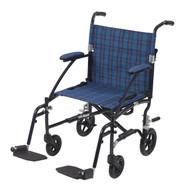 Fly Lite Ultra Lightweight Transport Wheelchair, Blue