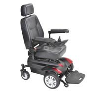 "Titan Transportable Front Wheel Power Wheelchair, Full Back Captain's Seat, 16"" x 16"""
