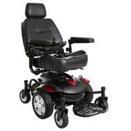 "Titan AXS Mid-Wheel Power Wheelchair, 22""x20"" Captain Seat"