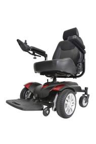 "Titan Transportable Front Wheel Power Wheelchair, Full Back Captain's Seat, 20"" x 18"""