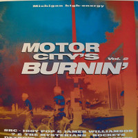 MOTOR CITY IS BURNING   - VOL 2 - 70-98 ( W Detroit, Iggy, Gories and more -)Comp LP