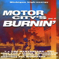 MOTOR CITY IS BURNING VOL 2 (previously unreleased tracks by Detroit w Mitch Ryder, The Gories with an unheard version of Queenies, The Hentchmen, Ten High, Ron Asheton's Destroy All Monsters, and SCR. 1970 -1998-  Comp CD
