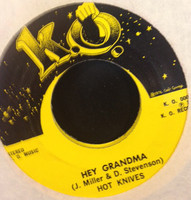 HOT KNIVES - Hey Grandma/ I Can Hear the Wind Blow  (Flamin Groovies ) ORIGINAL PRESSING 1976 -  45 RPM