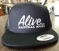 ALIVE TRUCKER HAT   - Black with white logo -  HAT