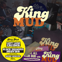 KING MUD  - Victory Motel Sessions -(LEFT LANE CRUISER,PARKER FROM RADIO MOSCOW, BLACK DIAMOND HEAVIES)  SUPERBUNDLE-AUTOGRAPHED LP , CD , T SHIRT, ROLLING PAPERS, BUMPER STICKER