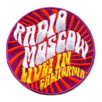 RADIO MOSCOW - IRON ON PATCH  LIVE IN CALIFORNIA-