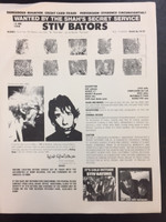 BATORS, STIV - 1980 FLIER FROM PROMO PACKAGE - ORIGINAL XEROX.   PHOTO