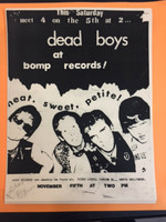 DEAD BOYS   - 1980 FLIER FROM BOMP STORE  XEROX.   PHOTO
