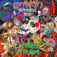 FOWLEY, KIM  & the PSYCHEDELIC DOGS  Detroit Invasion (produced by Matthew Smith of Outrageous Cherry) LP