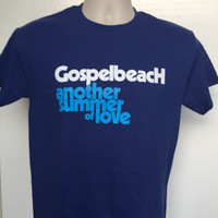 GOSPELBEACH  -ANOTHER SUMMER OF LOVE-  PACIFIC BLUE T SHIRT