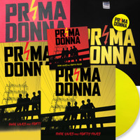 PRIMA DONNA - DELUXE BUNDLE- Nine Lives and Forty Fives - Autographed LTD ED COLOR vinyl LP ,T SHIRT,CD, & BADGE-