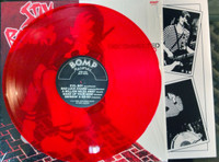 BATORS, STIV   - Disconnected LTD ED of 100 CLEAR  RED  VINYL    with cool printed inner sleeve! ( powerpop )   LP