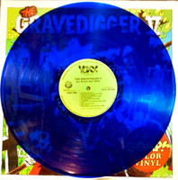 GRAVEDIGGER V   - All Black & Hairy  LTD ED  of 150 CLEAR BLUE VINYL! (60 style Classic cave garage )  -  LP