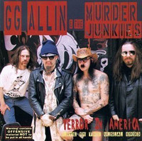 GG ALLIN  & THE MURDER JUNKIES   - Terror in America - LTd ed ORANGE MARBLE    LP