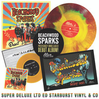"BEACHWOOD SPARKS   -LAST COPIES!  LP PLUS CD BUNDLE - Desert Skies  -SUPER DELUXE LTD ed of 400 starburst vinyl w liner notes insert, poster insert, color vinyl 7"", digipack CD w bonus tracks -"