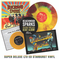 BEACHWOOD SPARKS  -FIRST PRESSING LAST COPIES  Desert Skies-SUPER DELUXE LTD ed of 400 -starburst vinyl  w liner notes insert, CD, poster insert, color vinyl 7""