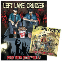 LEFT LANE CRUISER  - Rock Them Back to Hell ( LP Cover by William Stout, Ltd Edition of 300  GREEN VINYL w POSTER insert - mailorder exclusive-   LP