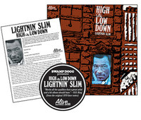 LIGHTNING SLIM - HIGH AND LOW DOWN -restored soul and blues  from the 70's, includes liner note flier written by Swamp Dogg  Classic BLACK vinyl -