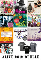 ALIVE 2012 LP WRAP UP  - All 10 ALIVE releases for 2012 on color vinyl, plus ALIVE T shirt , badge and sticker!   LP