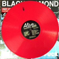 BLACK DIAMOND HEAVIES -Alive As Fuck- Ltd ed of 200  CHERRY RED -LP