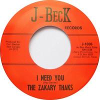 ZAKARY THAKS-BAD GIRL/I NEED YOU  (60s Texas punk  on PEBBLES) -   45 RPM
