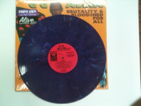 GG ALLIN and The Murder Junkies   -  Brutality & Bloodshed For All- Ltd ed  of 100 PURPLE MARBLE -  LP