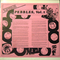 PEBBLES   - Vol 1 - Repro of  78 ORIGINAL PINK COVER. Ltd. to 500 copies on CLEAR VINYL   LP