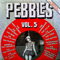 PEBBLES - Vol 05 -LIMITED to 500 in CLEAR  VINYL  LP