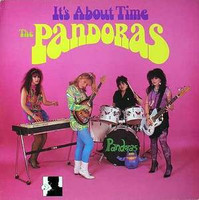 PANDORAS, THE - It's About Time  BLACK VINYL  ( 80s  Psych fuzz goddesses  )- LP