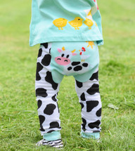 Blue Cow Cotton Leggings