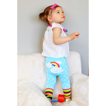 Blue Rainbow Cotton Leggings
