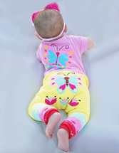 Butterfly Yellow Cotton Leggings